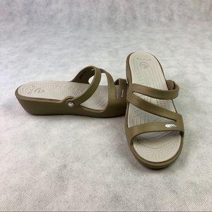 Crocks Wedge Slide Sandals Womens Size 9 NWOT